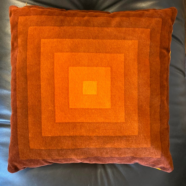 1970s Mid-Century Modern Verner Panton Velour Pillows - Set of 3 For Sale - Image 5 of 13