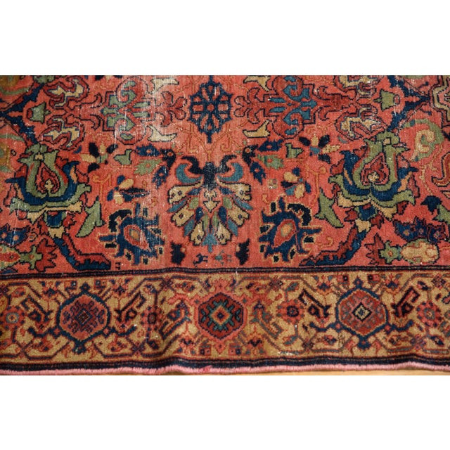"Islamic Vintage Fine Malayer Square Rug - 3'5"" X 4'6"" For Sale - Image 3 of 10"