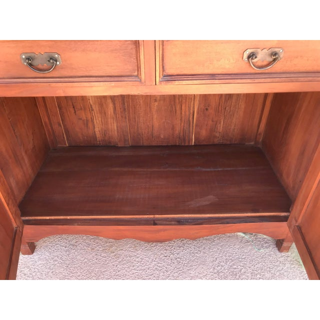 Antique Rustic Spanish Style Armoire For Sale In Palm Springs - Image 6 of 13