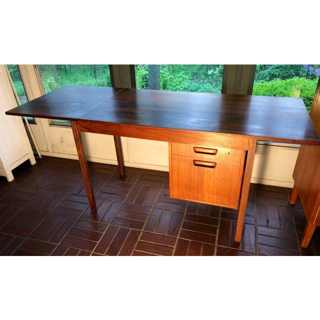 Arne Vodder 1960s Vintage Danish Modern Arne Vodder Desk For Sale - Image 4 of 9