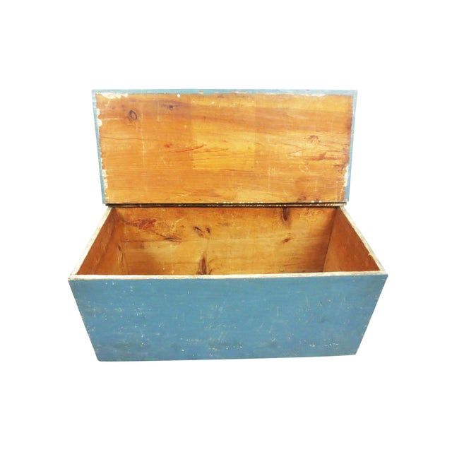 Blue Painted Six-Board Chest - Image 4 of 9