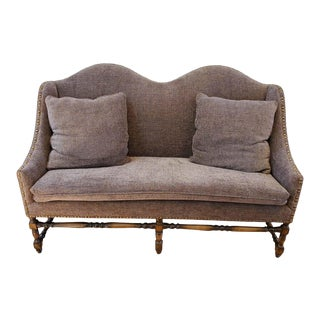 Late 19th Century French Provincial Walnut Settee For Sale
