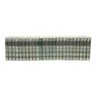 Complete Collection Gilt Leather Bound Book Set - 25 Pieces For Sale