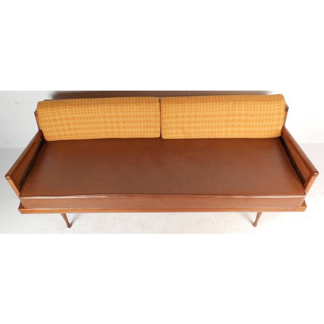 Mid-Century Modern Walnut and Cane Sofa - Image 3 of 7