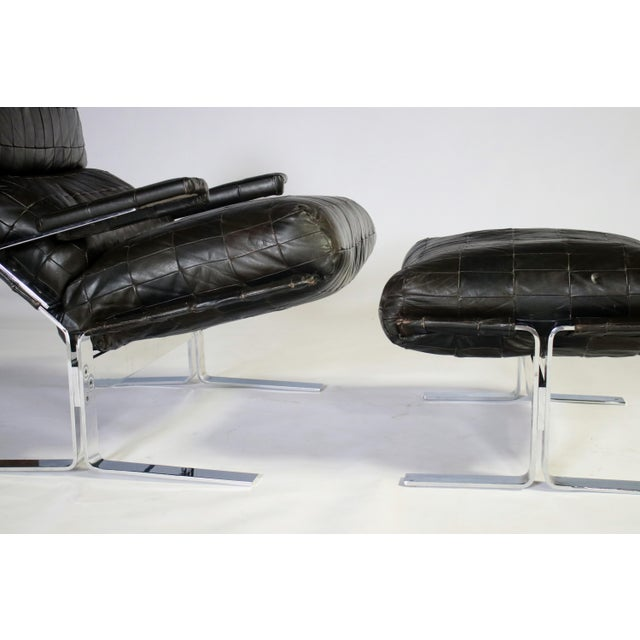 Richard Hersberger for Saporiti Lounge Chair and Ottoman For Sale In Chicago - Image 6 of 12