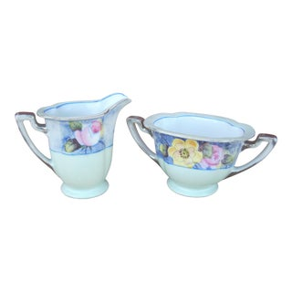 Noritake Cream & Sugar Set - A Pair For Sale