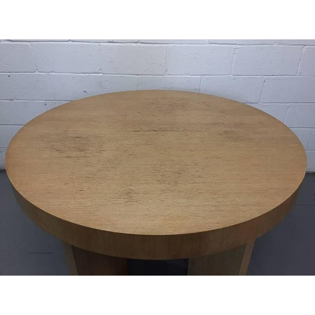 Cerused Oak James Mont Style Dining Table with Two Extensions - Image 5 of 6