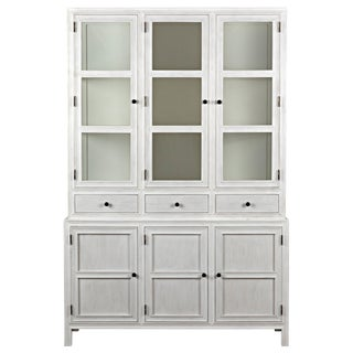 Colonial Hutch, White Wash For Sale