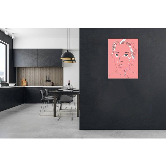 """""""Pink Lady"""" by Trixie Pitts Original Print on Heavy Paper For Sale In Nashville - Image 6 of 13"""