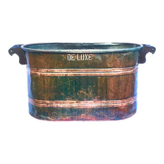 Late 19th Century Antique Copper Boiler De Luxe Wash Basin For Sale