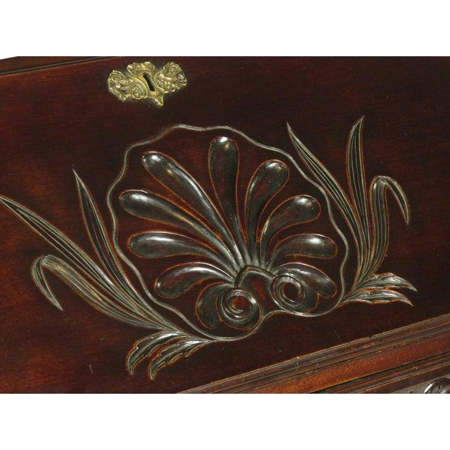 19th-C. Irish Georgian-Style Secretary Desk For Sale - Image 9 of 12