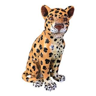 Vintage Italian Porcelain Leopard