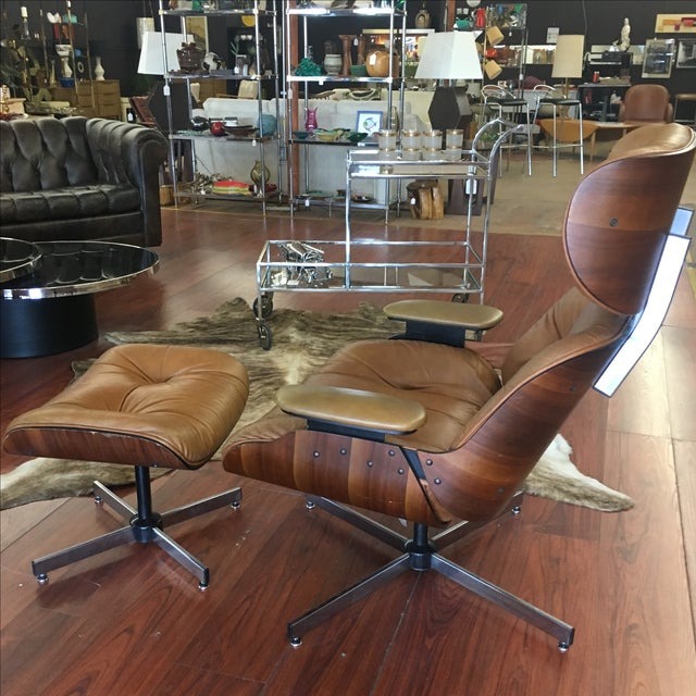 Selig Eames Style Chair & Ottoman - Image 2 of 11