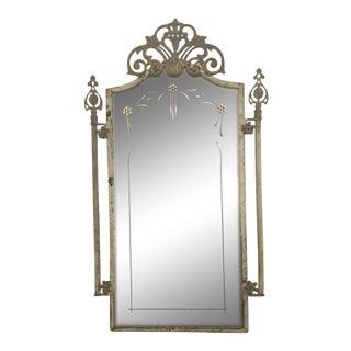 1940s Vintage Metal Iron Mirror For Sale