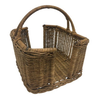 Vintage Serving Basket For Sale