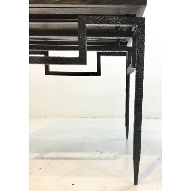 2010s Global Views Industrial Modern Scratch End Table For Sale - Image 5 of 6
