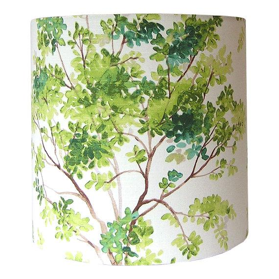 Handmade item Materials: wire lamp shade rings, styrene, designer fabric Made to order. Ready to ship in 2-3 weeks. - New...