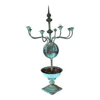 Copper Candelabra Planter For Sale