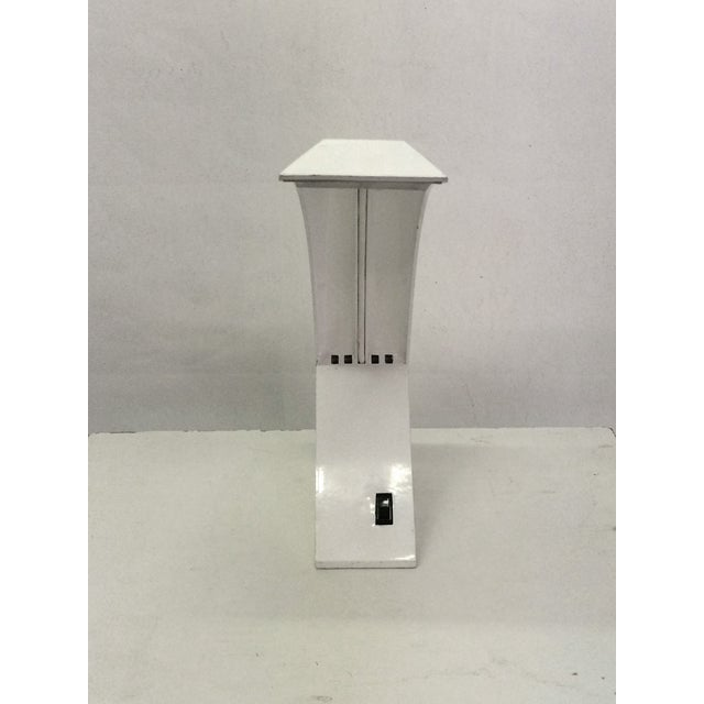 Mid-Century Modern 1970s White Lacquer Desk Lamp For Sale - Image 3 of 6