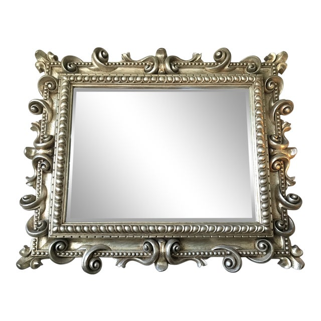 Artifacts Gold Leaf Scroll Mirror For Sale