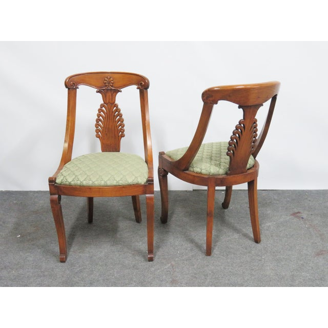 19th Century Antique Empire Klismos Carved Dining Chairs - Set of 6 For Sale In Philadelphia - Image 6 of 8
