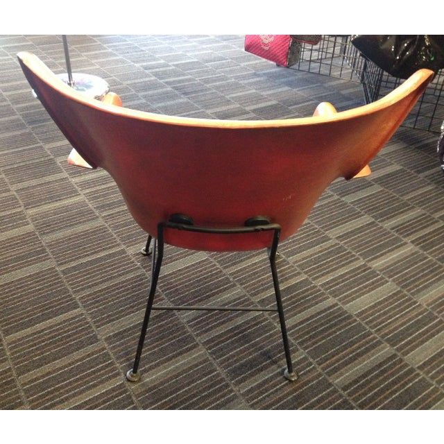 Lawrence Peabody Fiberglass Shell Chair For Sale - Image 5 of 8
