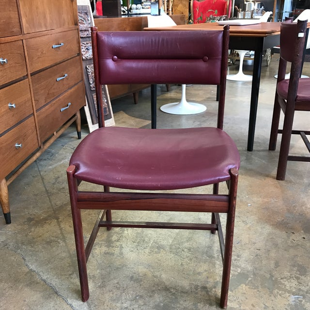 Solid Rosewood Danish Dining Chairs - Set of 4 - Image 4 of 7