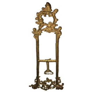 Vintage Victorian Style Brass Table Easel / Picture Stand For Sale