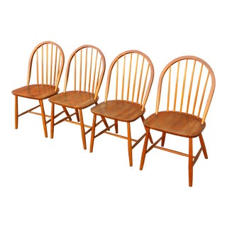 Mid Century Danish Erik Ole Jørgensen Teak Chairs - Set of 4 For Sale