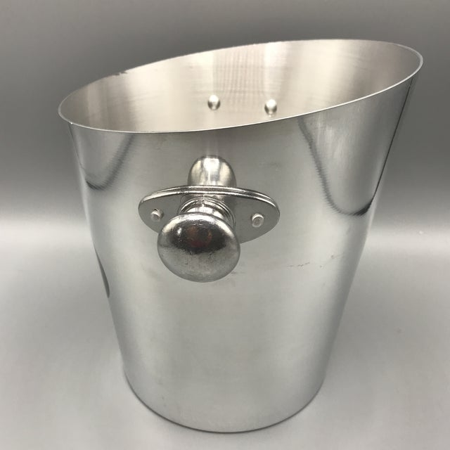 "This champagne bucket is tapered down from back to front (8.75"" in the back and 7.5"" inches in the front) and is made of..."