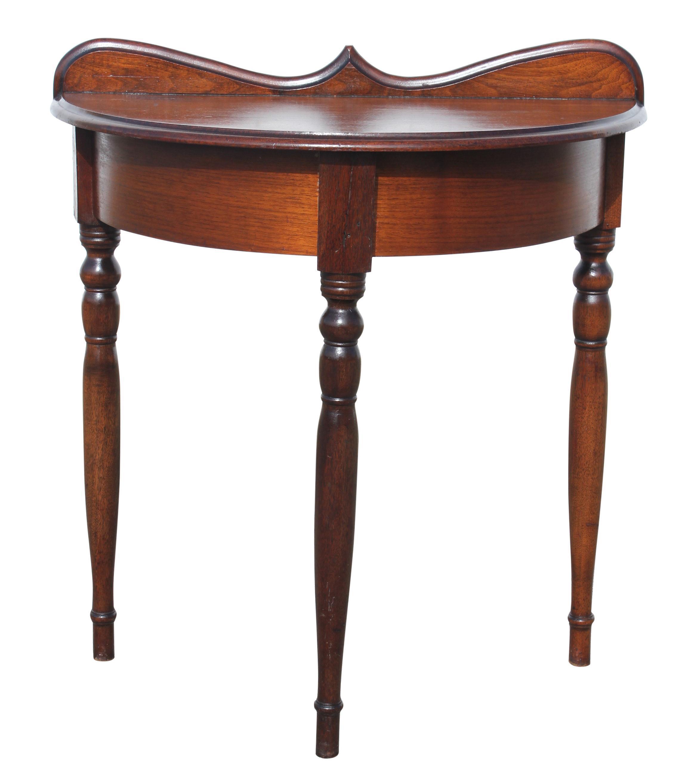 Demi Lune Mahogany Console Table