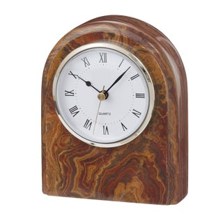 Brown Onyx Desk Clock