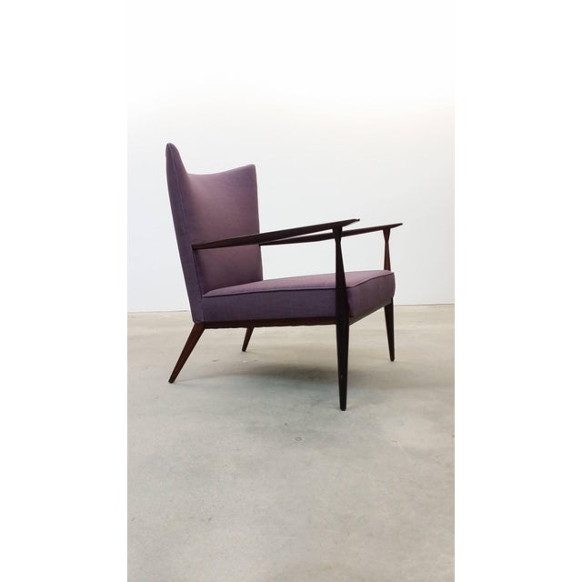 Purple 1950s Vintage Paul McCobb for Directional Fully Restored Lounge Chair For Sale - Image 8 of 8