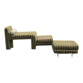 Vladimir Kagan Omnibus Sofa and Ottoman For Sale