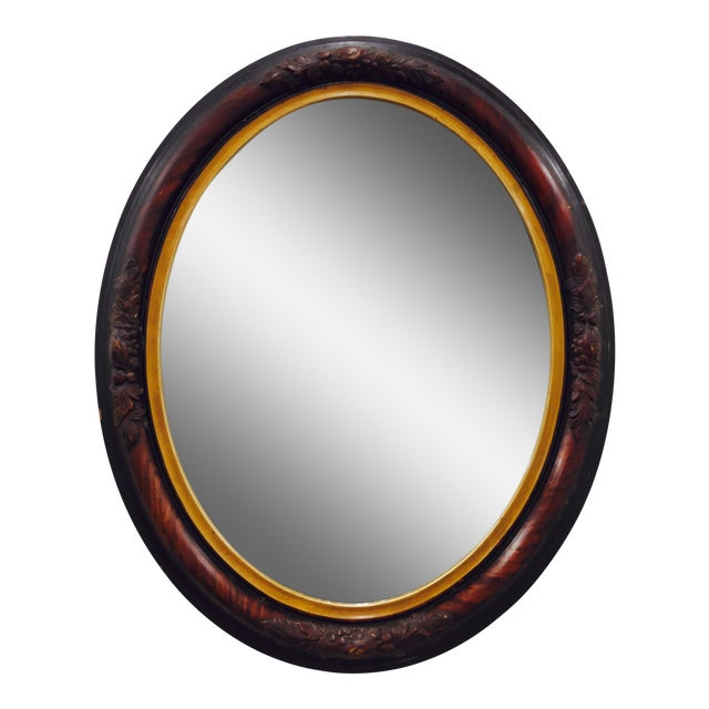Antique Wooden Mirror - Image 1 of 8