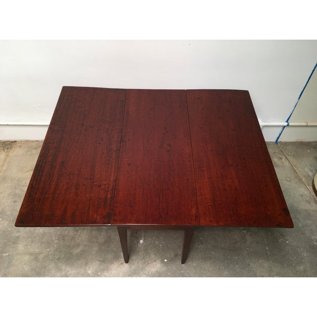 American Antique Gate Leg Table Drop-Leaf Console For Sale - Image 9 of 11
