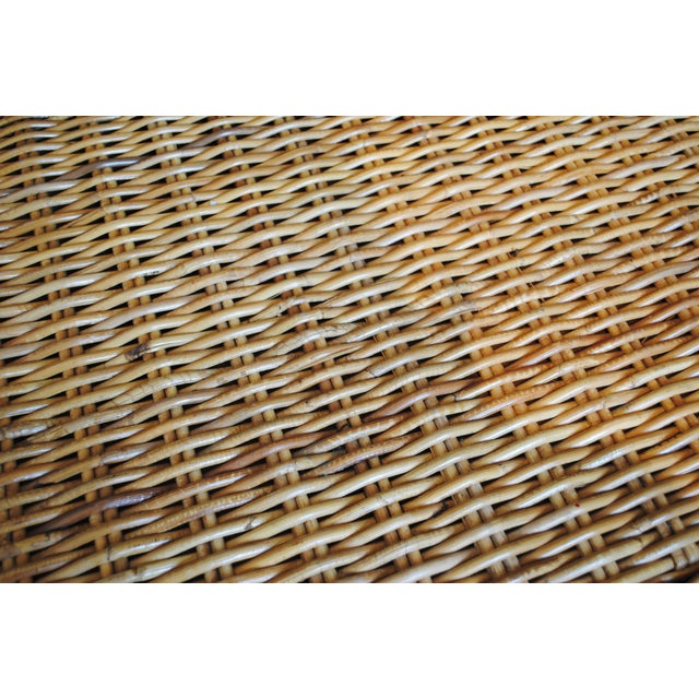 Vintage Rattan Coffee Table / Bench - Image 6 of 6