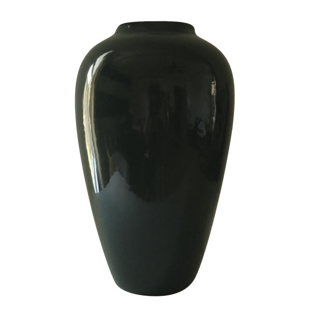 Hunter Green Ceramic Vase - Image 1 of 5