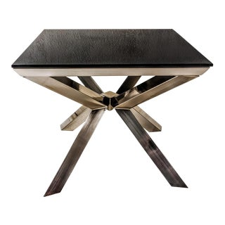 Contemporary Chrome Occasional Coffee Table or Side Table For Sale
