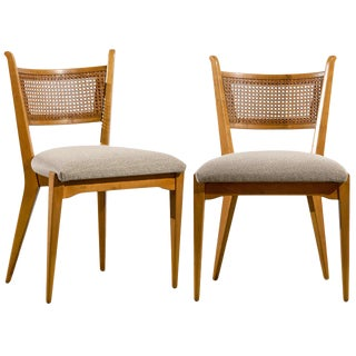 Stellar Set of 4 Cane Back Chairs by Edmond Spence For Sale