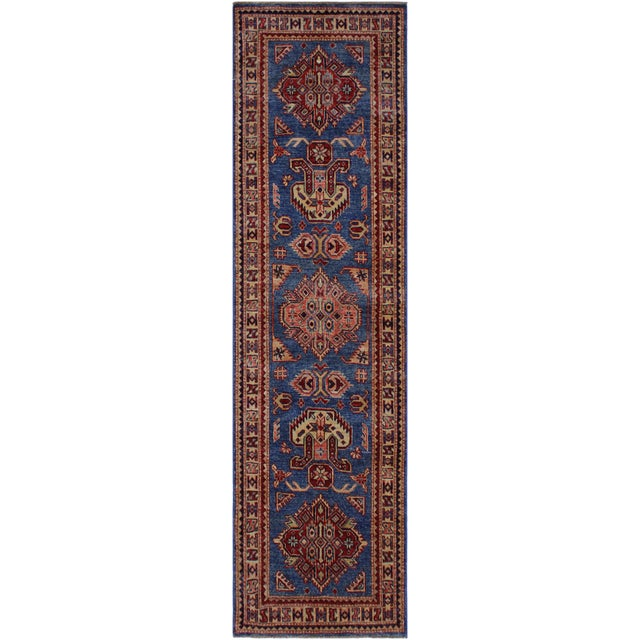 Red Slyvia Hand-Knotted Wool Rug - 2′7″ × 6′4″ For Sale - Image 8 of 8