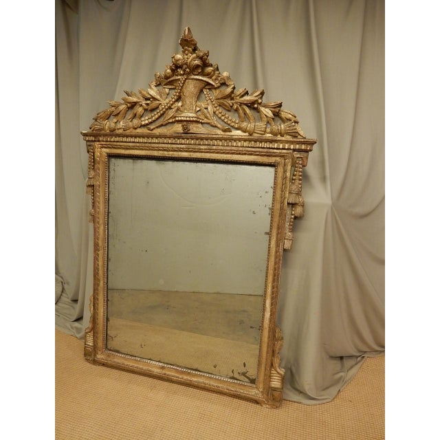 Wood 18th C. French Directoire Mirror For Sale - Image 7 of 8