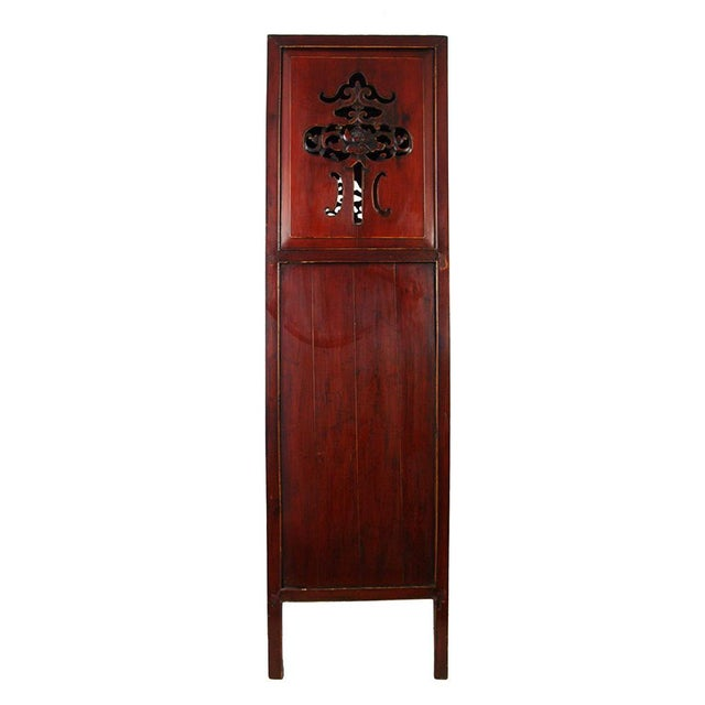Brown Chinese Antique Carved Wan LI Display Cabinet For Sale - Image 8 of 11