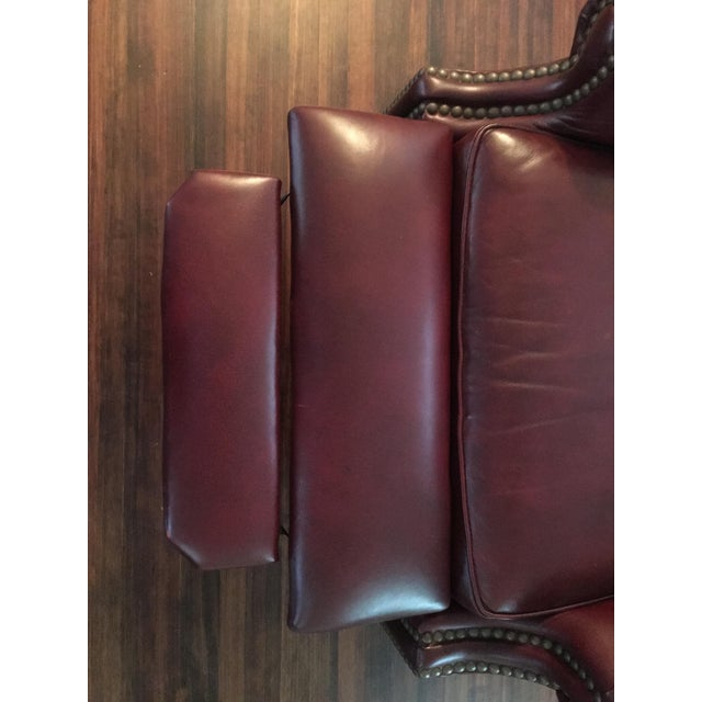 Hancock & Moore Addison Bustle Back Ball & Claw Recliner in Red Leather - Image 11 of 11