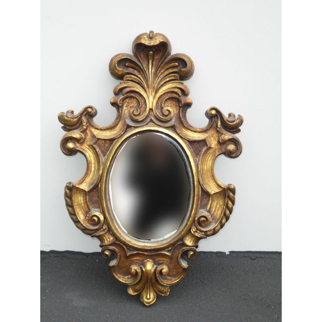 Vintage Syroco Gold Floral Wall Mirror - Image 4 of 11