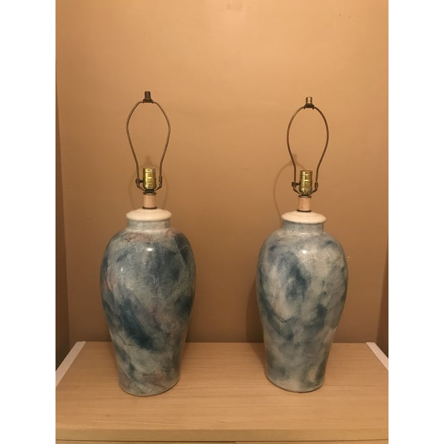 Modern Thai Table Lamps - a Pair - Image 2 of 3