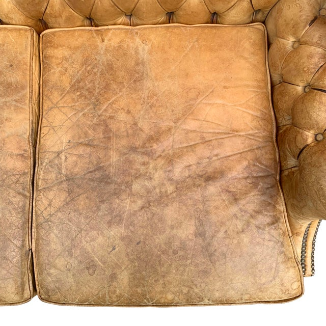 20th Century Vintage English Chippendale Style Wingback Settee For Sale - Image 9 of 13