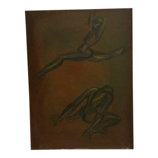 """Ballet Dancing"" Original Painting on Board"