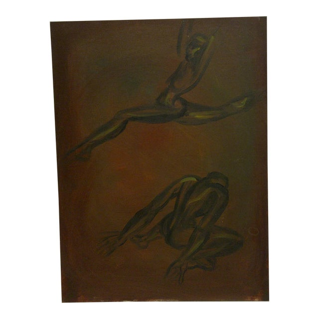 """""""Ballet Dancing"""" Original Painting on Board For Sale"""