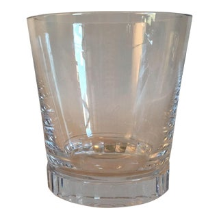 Ralph Lauren Large Crystal Vase With a Faceted Base